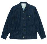 ANDFAMILY<アンドファミリー>/IN DOT L/S Shirts(イタリアンカラードットシャツ)/インディゴ