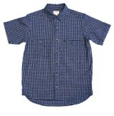 ANDFAMILY<アンドファミリー>/Indigo Check S/S Shirts(チェックシャツ)/ブルー
