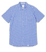 BEDWIN<ベドウィン>/ S/S SHIRRING GINGHAM SHIRT'MAREK'(シャーリングギンガムチェックシャツ)/レッド、ブルー2色展開