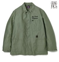 DELUXE<デラックス>/DELUXE x GUNG HO COVERALL(GUNG HOダブルネームカバーオール)/オリーブ
