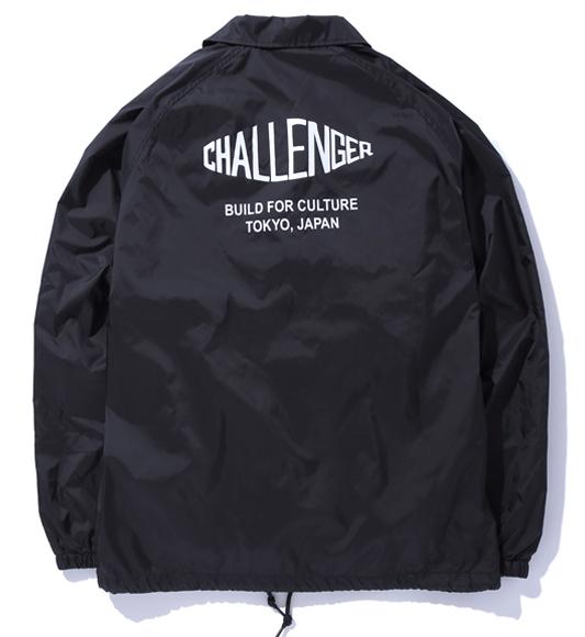 f8ab6e30a203 CHALLENGER<チャレンジャー>/PRINTED COACH JACKET(コーチジャケット)/ブラック激怒