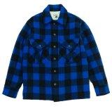 ANDFAMILY<アンドファミリー>/Rich Plaid C.P.O. JACKET(Woolrichダブルネームフィールドジャケット)/ブルー