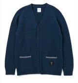 BEDWIN & THE HEARTBREAKERS<ベドウィン>/DRALON KNIT CARDIGAN 'GODARD'(カーディガン)/ネイビー