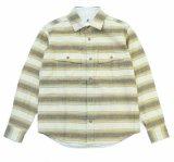 ANDFAMILY<アンドファミリー>/Goofy Gus L/S Shitrs(ボーダーネルシャツ)/カーキ