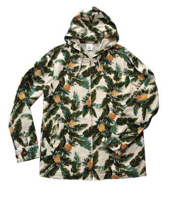 画像1: ANDFAMILY<アンドファミリー>/Hawaiian Hooded Z-jacket(総柄ジップアップジャケット)/パイン (1)