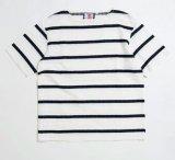 SON OF THE CHEESE<サノバチーズ>/border boat neck tee(ボートネックTシャツ)/ホワイト