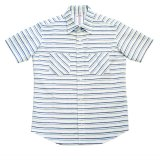 ANDFAMILY<アンドファミリー>/Tuck Stitch Summer S/S Shirts(ボーダーシャツ)/ブルーライン