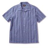 ☆40%OFF☆RATS<ラッツ>/PIN CHECK S/S SHIRT(オープンカラーシャツ)/ブルーグレーチェック