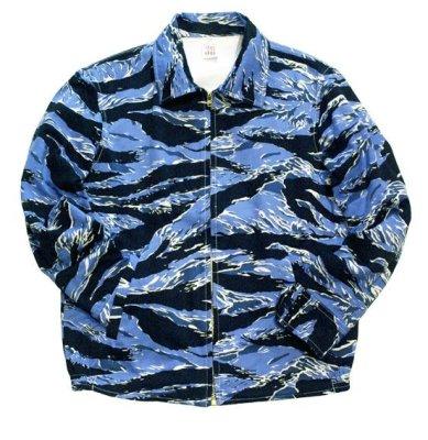 画像1: ANDFAMILY<アンドファミリー>/Souvenir Jacket'BLUE TIGER'(スーベニアジャケット)/ブルータイガー (1)