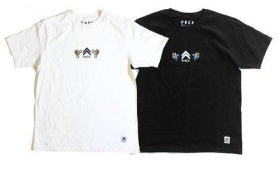 画像1: PANCAKE<パンケーキ>/PNCK 8bit LOGO TEE(Tシャツ)/ホワイト、ブラック2色展開 (1)