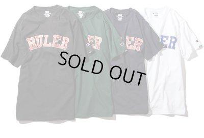 画像1: RULER<ルーラー>/COLLEGE CHAMPION TEE(ChampionダブルネームTシャツ)/ブラック、ダークグリーン、ネイビー、ホワイト4色展開 (1)