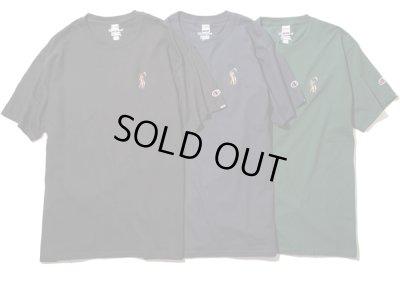 画像1: RULER<ルーラー>/BIG DD CHAMPION TEE(ChampionダブルネームTシャツ)/ブラック、ネイビー、グリーン3色展開 (1)