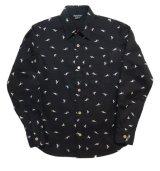 ANDFAMILY<アンドファミリー>/California Duck Shirts(総柄シャツ)/ブラック