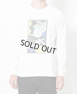 画像1: SON OF THE CHEESE<サノバチーズ>/Face long shirt(ロングスリーブTシャツ)/ホワイト (1)