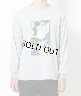 画像1: SON OF THE CHEESE<サノバチーズ>/Face long shirt(ロングスリーブTシャツ)/グレー (1)