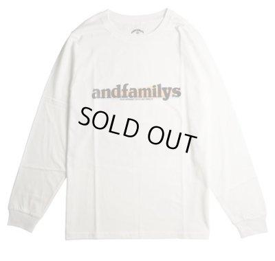 画像1: ANDFAMILY<アンドファミリー>/Standard L/S T-Shirts'G.M.T'(ロングスリーブTシャツ)/ホワイト (1)