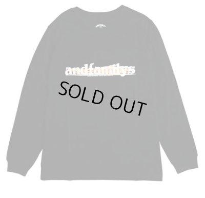 画像1: ANDFAMILY<アンドファミリー>/Standard L/S T-Shirts'G.M.T'(ロングスリーブTシャツ)/ブラック (1)