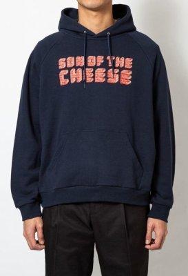画像1: SON OF THE CHEESE<サノバチーズ>/Brick LOGO HOODIE(スウェットパーカー)/ネイビー (1)