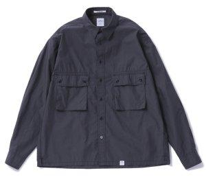 画像1: BEDWIN & THE HEARTBREAKERS<ベドウィン>/ L/S TYPEWRITER CLOTH SHIRT 'MARSHALL'(シャツジャケット)/ブラック (1)