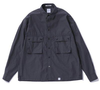 画像1: ☆40%OFF☆ BEDWIN & THE HEARTBREAKERS<ベドウィン>/ L/S TYPEWRITER CLOTH SHIRT 'MARSHALL'(シャツジャケット)/ブラック (1)