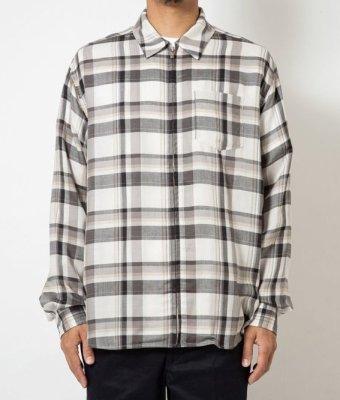 画像1: SON OF THE CHEESE<サノバチーズ>/ZIP Shirt(ジップアップシャツ)/チェック (1)
