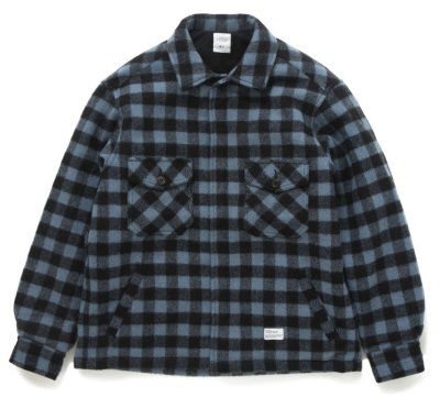画像1: ☆30%OFF☆ BEDWIN & THE HEARTBREAKERS<ベドウィン>/BUFFALO CHECK PADDED JACKET 'KAY'(WOOLRICHダブルネームチェックジャケット)/サックス (1)