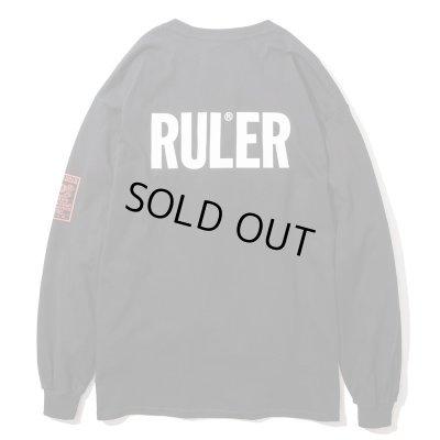画像1: RULER <ルーラー> / ICON LONG TEE(ロングスリーブTシャツ) / ブラック、ホワイト2色展開 (1)