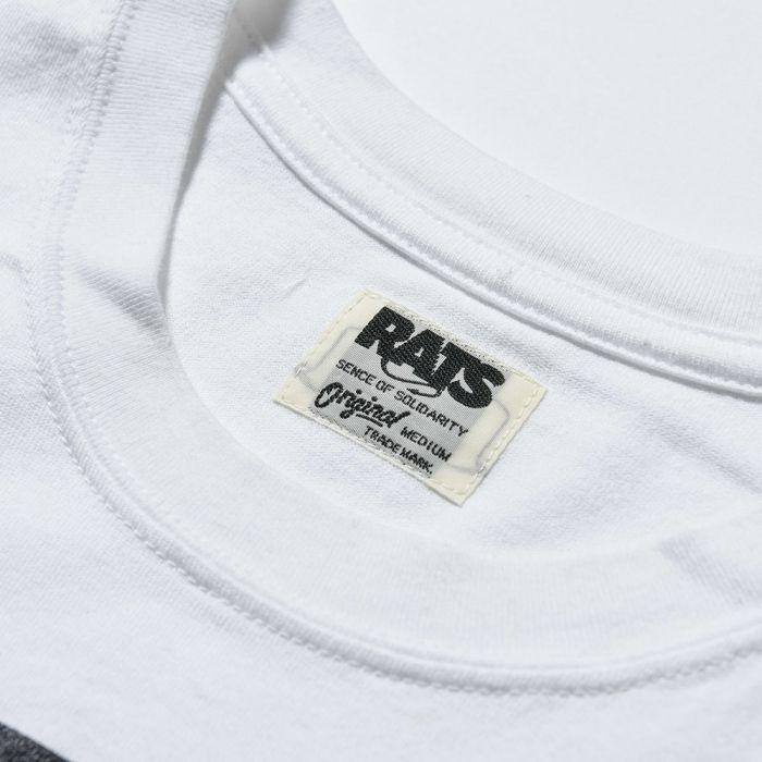 f41deeb2c3 RATS<ラッツ>/BOX LOGO TEE(Tシャツ)/ホワイト、ブラック、ネイビー、レッド4色展開 [19'RT-0603]